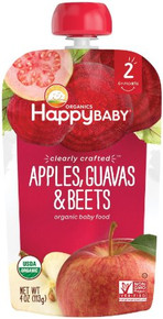 Apples Guavas & Beets 16 of  4 OZ By HAPPY BABY