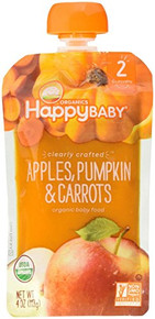 Apples Pumpkin & Carrots 16 of 4 OZ By HAPPY BABY