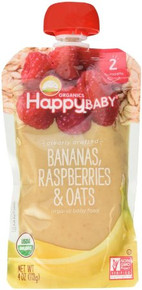 Bananas Raspberries & Oats 16 of 4 OZ By HAPPY BABY