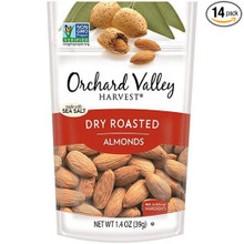 Almonds,Whl,Dry Rstd,Sea Salt 14 of 1.4 OZ By ORCHARD VALLEY HARVEST