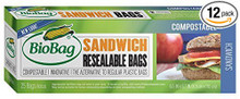 Resealable Sandwich Bags 12 of 25 CT By BIOBAG