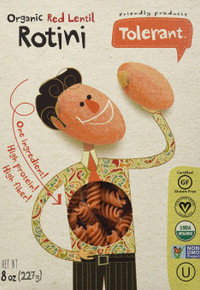 Pasta,Red Lentil,Rotini 6 of 8 OZ By TOLERANT