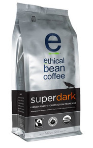Whole Bean,Super Drk Frnch Rst 6 of 12 OZ By ETHICAL BEAN COFFEE