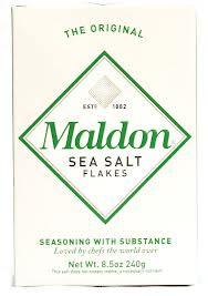 Sea Salt Flakes 12 of 8.5 OZ Maldon Crystal Salt Co