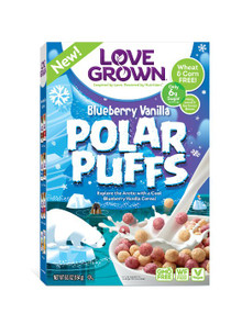 Blueberry Vanilla Polar Puffs 6 of 6.5 OZ By LOVE GROWN FOODS