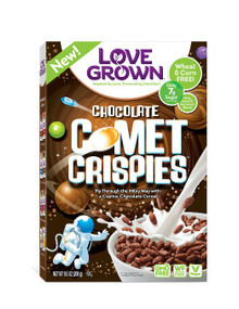 Chocolate Comet Crispies 6 of 9.5 OZ By LOVE GROWN FOODS