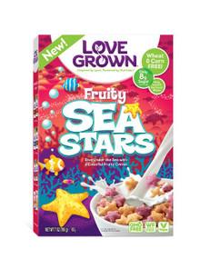 Fruity Sea Stars 6 of 7 OZ By LOVE GROWN FOODS