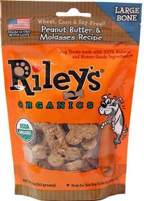 Peanut Butter Molasses Lg Bone 5 of 5 OZ By RILEYS ORGANICS
