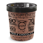Triple Chocolate 8 of 16 OZ By ENLIGHTENED ICE CREAM