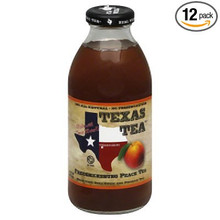 Fredericksburg Peach Tea RTD 12 of 16 OZ By TEXAS TEA