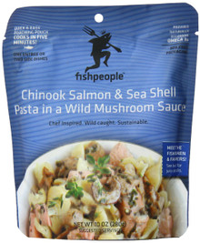 Salmon/Shell Pasta/Mushroom Sauce 12 of 10 OZ From FISHPEOPLE