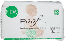 Green Loops 4 of 33 CT By POOF BIODEGRADABLE DIAPERS