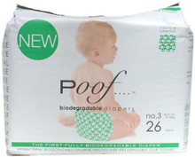 Green Loops No. 3 4 of 26 CT By POOF BIODEGRADABLE DIAPERS
