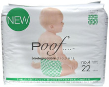 Green Loops No. 4 4 of 22 CT By POOF BIODEGRADABLE DIAPERS