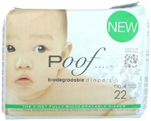 Taupe Chinoiserie 4 of 22 CT By POOF BIODEGRADABLE DIAPERS