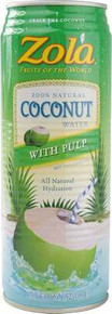 Coconut Water Natural w/Pulp 12 of 17.5 OZ ZOLA BRAZILIAN FRUITS
