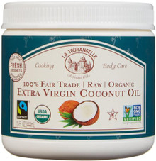 Coconut Unrefined Virgin 6 of 15 OZ By LA TOURANGELLE