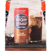 Double Espresso RTD 6 of 4 of 8 OZ By HIGH BREW COFFEE