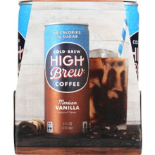 Mexican Vanilla,RTD 6 of 4 of 8 OZ By HIGH BREW COFFEE