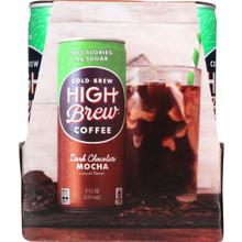 Dark Chocolate Mocha,RTD 6 of 4 of 8 OZ By HIGH BREW COFFEE