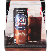 Black & Bold,RTD 6 of 4 of 8 OZ By HIGH BREW COFFEE