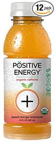 Peach Mango Lemonade 12 of 10 OZ By POSITIVE ENERGY