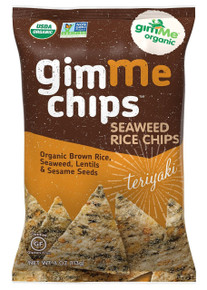 Seaweed Rice Chips Teriyaki 12 of 4 OZ From GIMME