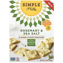 Rosemary & Sea Salt GF 6 of 4.25 OZ By SIMPLE MILLS