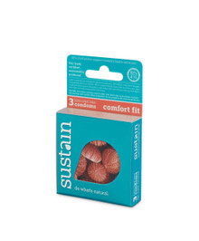 Condom Comfort Fit Lubricated 3 CT From SUSTAIN