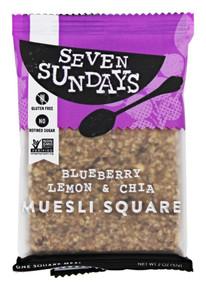 Squares,Blueberry Lemon Chia 10 of 2 OZ By SEVEN SUNDAYS