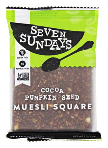 Squares,Cocoa Pumpkin Seed   10 of 2 OZ By SEVEN SUNDAYS