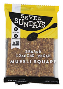 Squares,Banana Toasted Pecan 10 of 2 OZ By SEVEN SUNDAYS