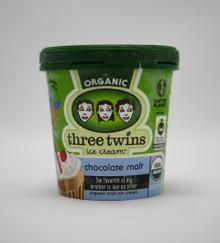 Chocolate Malt 8 of 16 OZ THREE TWINS ICE CREAM