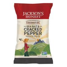 Sea Salt & Cracked Pepper 12 of 5 OZ By JACKSONS HONEST CHIPS