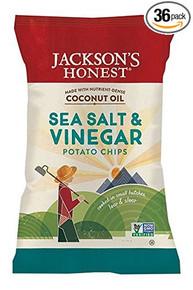 Sea Salt & Vinegar 36 of 1.2 OZ By JACKSONS HONEST CHIPS