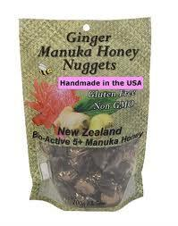 Ginger Nuggets w/Manuka Honey 6 of 3.5 OZ By PACIFIC RESOURCES INTL