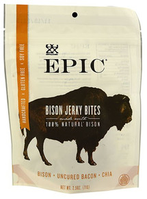 Bison Uncured Bacon Chia 8 of 2.5 OZ By EPIC