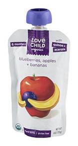 Blueberries Apples & Bananas 6 of 4 OZ By LOVE CHILD ORGANICS