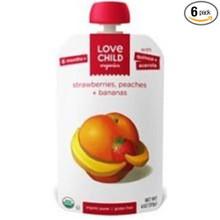 Strawberries Peaches & Bananas 6 of 4 OZ By LOVE CHILD ORGANICS