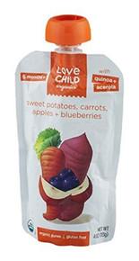 Swt Potatoes,Carrots,Apples,Blubry 6 of 4 OZ By LOVE CHILD ORGANICS