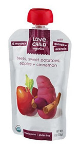 Beets Sweet Pot Apples & Cinn 6 of 4 OZ By LOVE CHILD ORGANICS