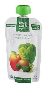 Spinach Broccoli Apples & Kiwi 6 of 4 OZ By LOVE CHILD ORGANICS