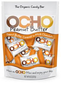 Peanut Butter Mini/Milk Choc. 12 of 8 OZ By OCHO