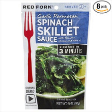 Garlic Parmesan Spinach 8 of 4 OZ By RED FORK