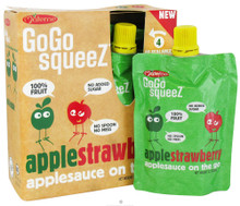 Apple Strawberry 12 of 4 of 3.2 OZ By GOGO SQUEEZ