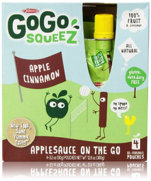 Apple Cinnamon 12 of 4 of 3.2 OZ By GOGO SQUEEZ