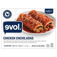 Chicken Enchiladas 8 of 9.74 OZ By EVOL FOODS