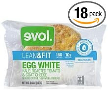 Eggwhite/Kale/Rst Tomato/Goat Chs 18 of 3.6 OZ By EVOL FOODS