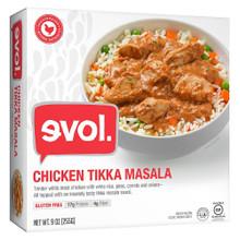 Chicken Tikka Masala 12 of 9 OZ By EVOL FOODS