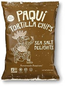 Sea Salt Delights 12 of 5.5 OZ By PAQUI TORTILLA CHIPS